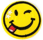 Patch 50x50 mm smiley