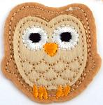 Patch 48x52 mm owl