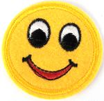 Patch 52x50 mm smiley